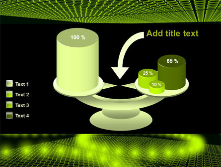Glowing Green Circles PowerPoint Template Slide 10