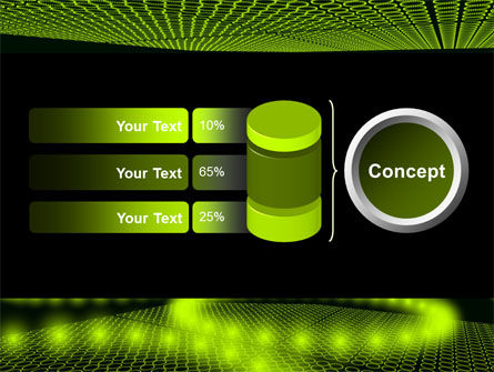 Glowing Green Circles PowerPoint Template Slide 11
