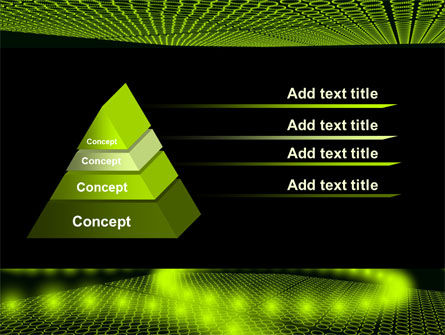 Glowing Green Circles PowerPoint Template Slide 12