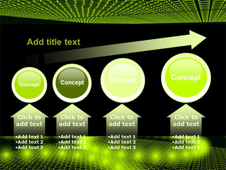 Glowing Green Circles PowerPoint Template Slide 13