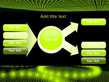 Glowing Green Circles PowerPoint Template Slide 14