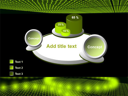 Glowing Green Circles PowerPoint Template Slide 16