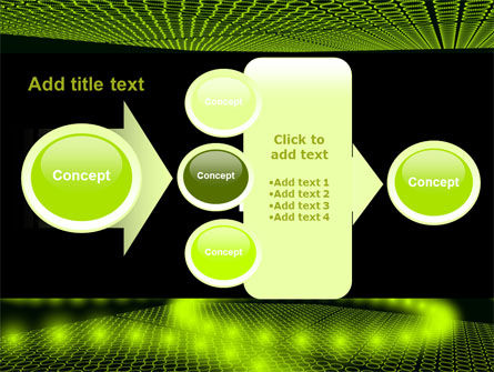 Glowing Green Circles PowerPoint Template Slide 17