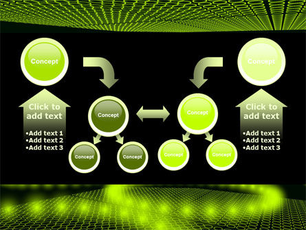 Glowing Green Circles PowerPoint Template Slide 19