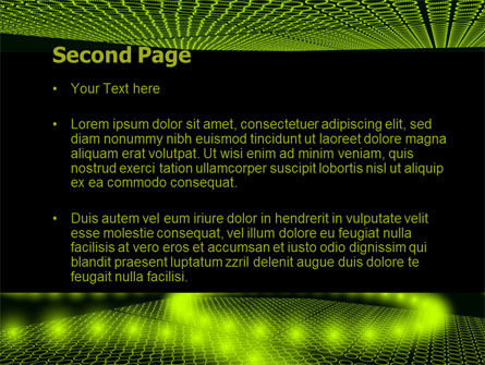 Glowing Green Circles PowerPoint Template Slide 2