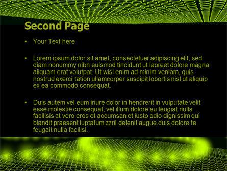 Glowing Green Circles PowerPoint Template, Slide 2, 07909, Abstract/Textures — PoweredTemplate.com