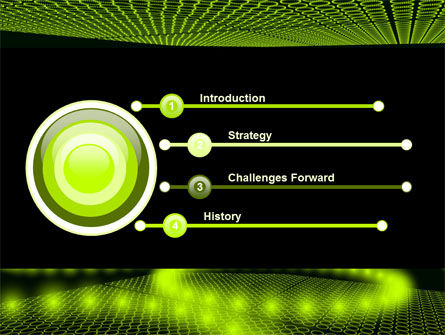 Glowing Green Circles PowerPoint Template, Slide 3, 07909, Abstract/Textures — PoweredTemplate.com