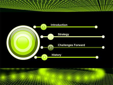 Glowing Green Circles PowerPoint Template, Slide 3, 07909, Abstract/Textures — PoweredTemplate.com