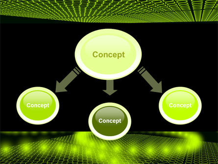 Glowing Green Circles PowerPoint Template, Slide 4, 07909, Abstract/Textures — PoweredTemplate.com
