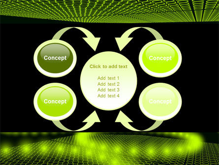 Glowing Green Circles PowerPoint Template Slide 6