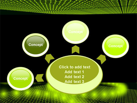 Glowing Green Circles PowerPoint Template Slide 7