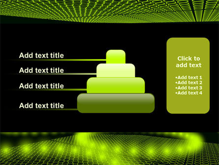 Glowing Green Circles PowerPoint Template Slide 8