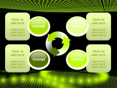 Glowing Green Circles PowerPoint Template Slide 9