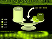 Glowing Green Circles PowerPoint Template#10