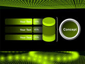 Glowing Green Circles PowerPoint Template#11
