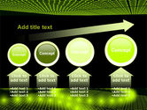 Glowing Green Circles PowerPoint Template#13