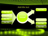 Glowing Green Circles PowerPoint Template#14