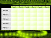 Glowing Green Circles PowerPoint Template#15