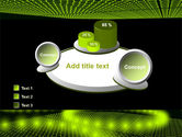 Glowing Green Circles PowerPoint Template#16