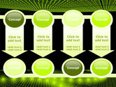 Glowing Green Circles PowerPoint Template#18