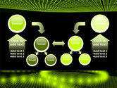 Glowing Green Circles PowerPoint Template#19