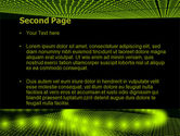 Glowing Green Circles PowerPoint Template#2