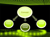Glowing Green Circles PowerPoint Template#4