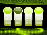 Glowing Green Circles PowerPoint Template#5