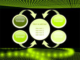 Glowing Green Circles PowerPoint Template#6