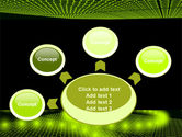 Glowing Green Circles PowerPoint Template#7