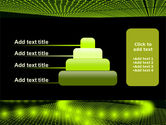 Glowing Green Circles PowerPoint Template#8