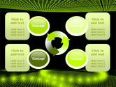 Glowing Green Circles PowerPoint Template#9