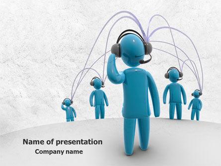 Telecommunication: ワイヤレスコミュニティー - PowerPointテンプレート #07910