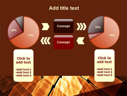 Glowing Rods PowerPoint Template Slide 11
