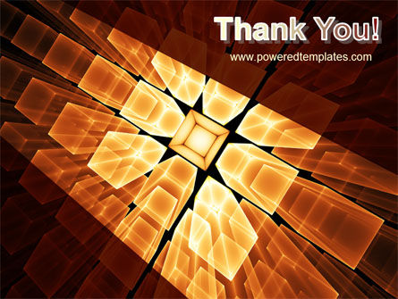 Glowing Rods PowerPoint Template Slide 20