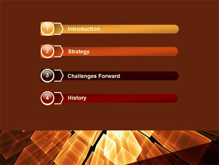 Glowing Rods PowerPoint Template Slide 3