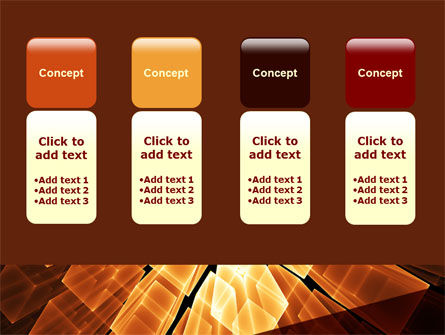 Glowing Rods PowerPoint Template Slide 5