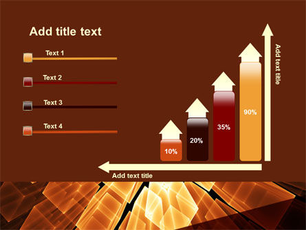 Glowing Rods PowerPoint Template Slide 8