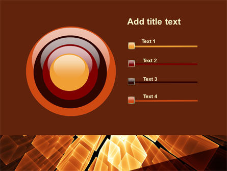 Glowing Rods PowerPoint Template Slide 9