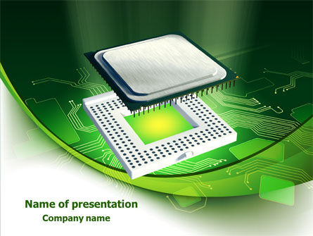 Technology and Science: Socket For Microprocessor PowerPoint Template #07915