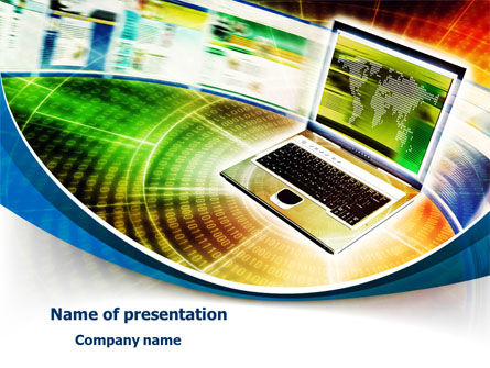 Laptop PowerPoint Template, 07918, Computers — PoweredTemplate.com