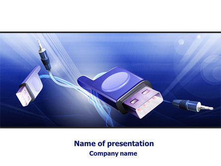Telecommunication: Computer Connectors PowerPoint Template #07921
