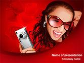 Careers/Industry: Kompaktkamera Kostenlose PowerPoint Vorlage #07922