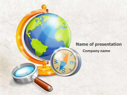 World Exploration PowerPoint Template, 07923, Global — PoweredTemplate.com