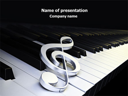 Music Key PowerPoint Template, 07925, Art & Entertainment — PoweredTemplate.com