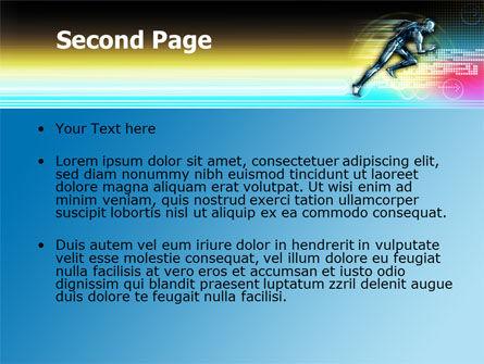 Running Iron Man PowerPoint Template, Slide 2, 07928, Sports — PoweredTemplate.com