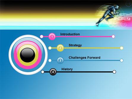 Running Iron Man PowerPoint Template, Slide 3, 07928, Sports — PoweredTemplate.com