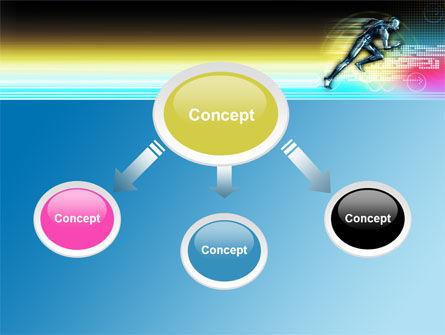 Running Iron Man PowerPoint Template, Slide 4, 07928, Sports — PoweredTemplate.com