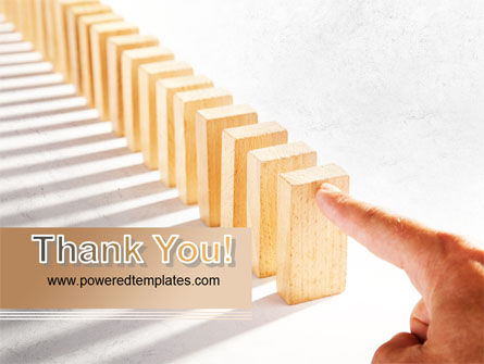 Domino Effect PowerPoint Template Slide 20