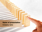 Business Concepts: Domino Effect PowerPoint Template #07929